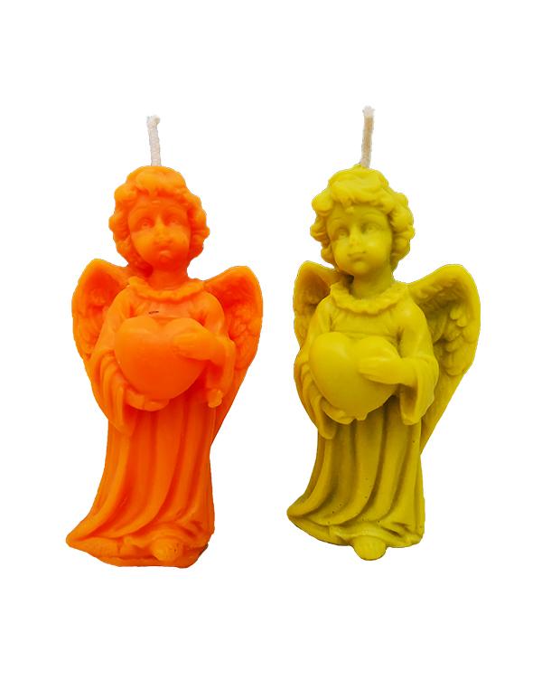 """Свічки """"ангелочки"""" із натурального воску"""