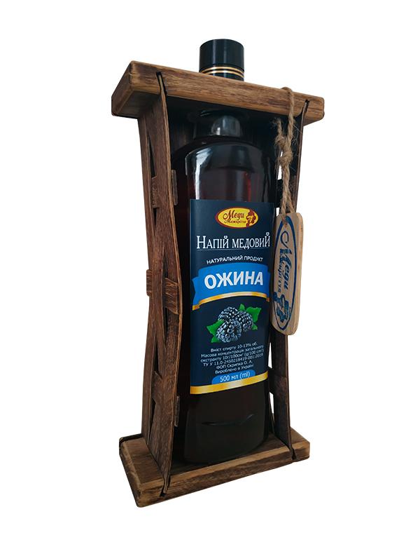 Напій медовий 0.5л у дерев'яному футлярі