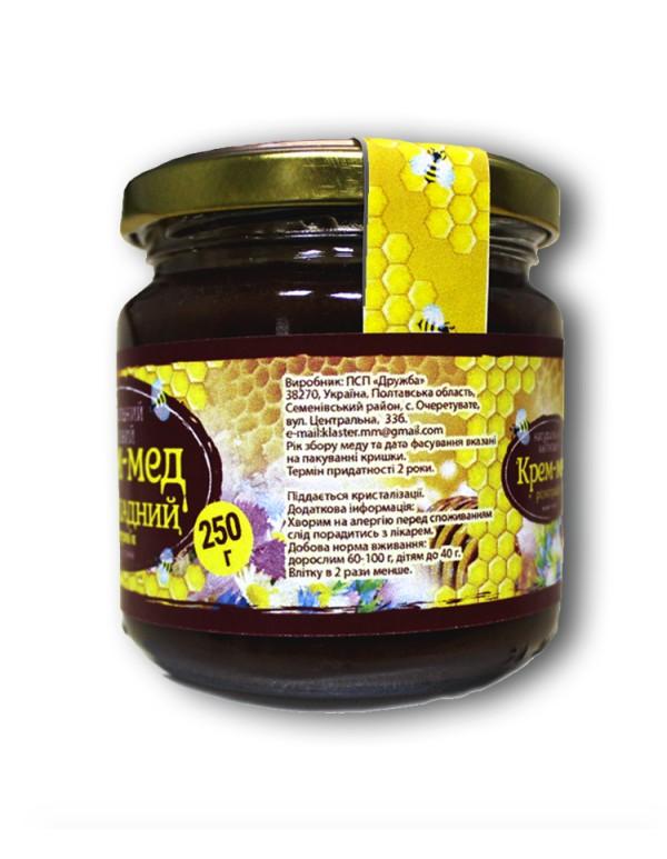 Крем-мед шоколадний 250г