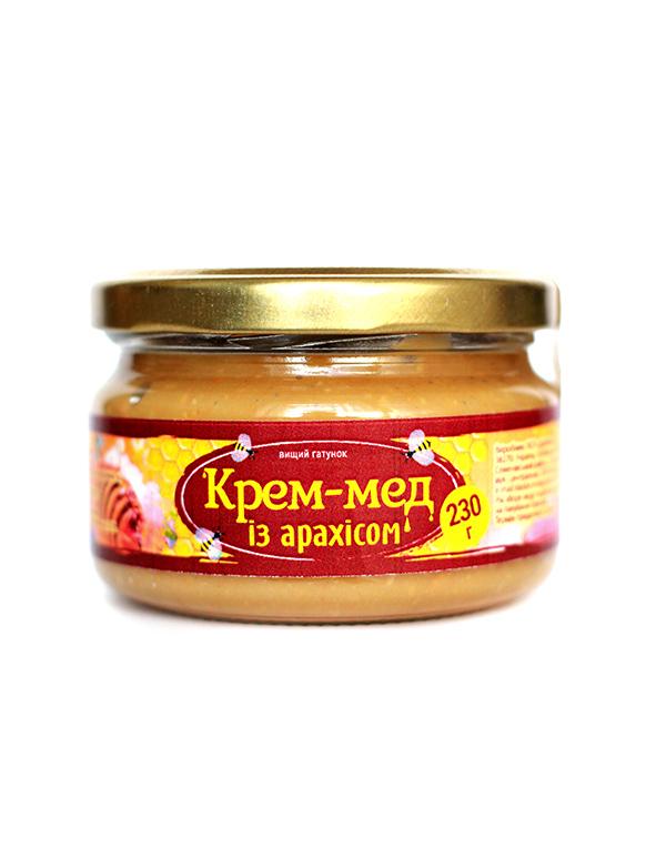 Крем-мед із арахісом 230г