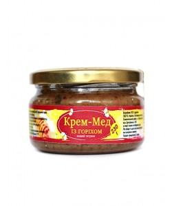Крем-мед із горіхом 230г