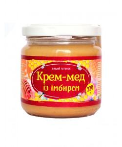 Крем-мед із імбирем 230г