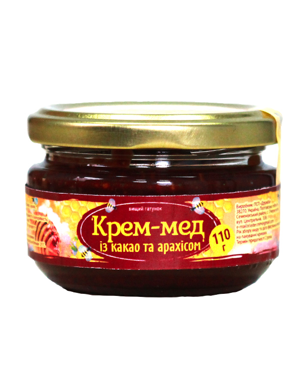 Крем-мед із какао та арахісом 110г