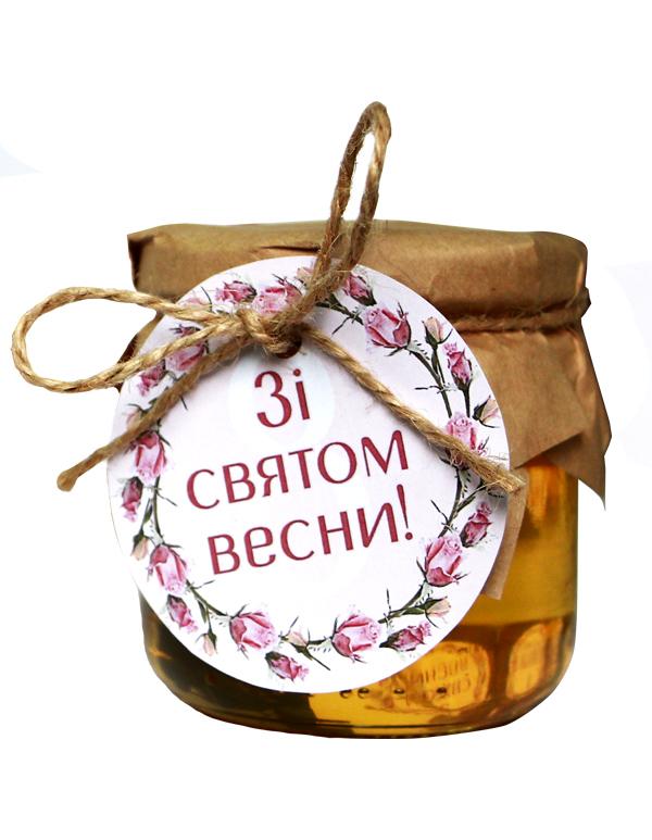Мед Акація 250г із листівкою на свято весни