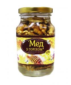Мед з горіхом 370г
