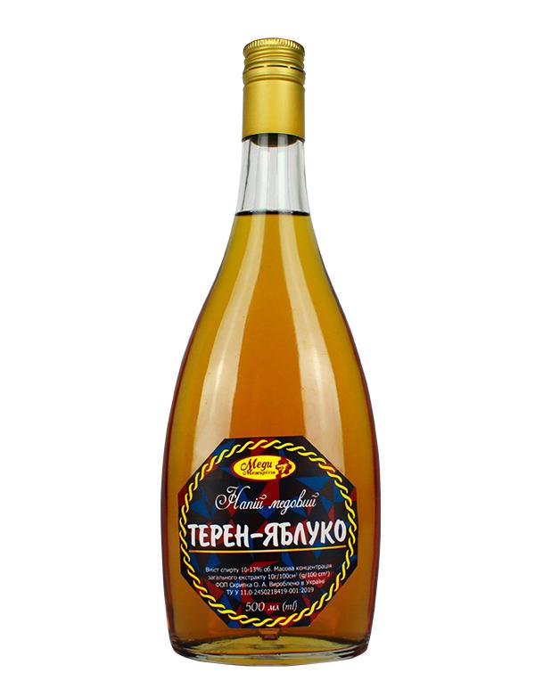 """Напій медовий """"Терен-яблуко"""" 0.5л"""
