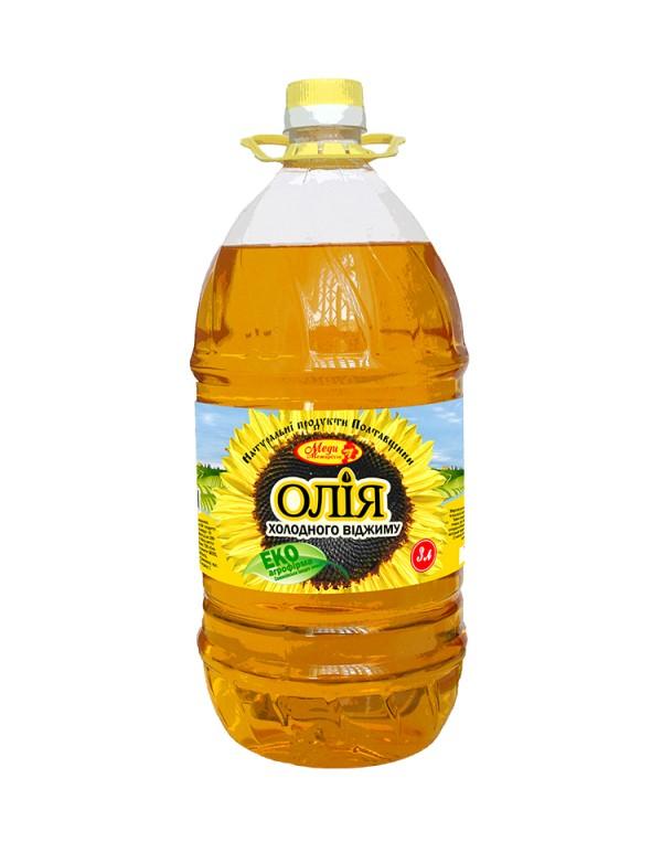 Соняшникова олія холодного віджиму 3л