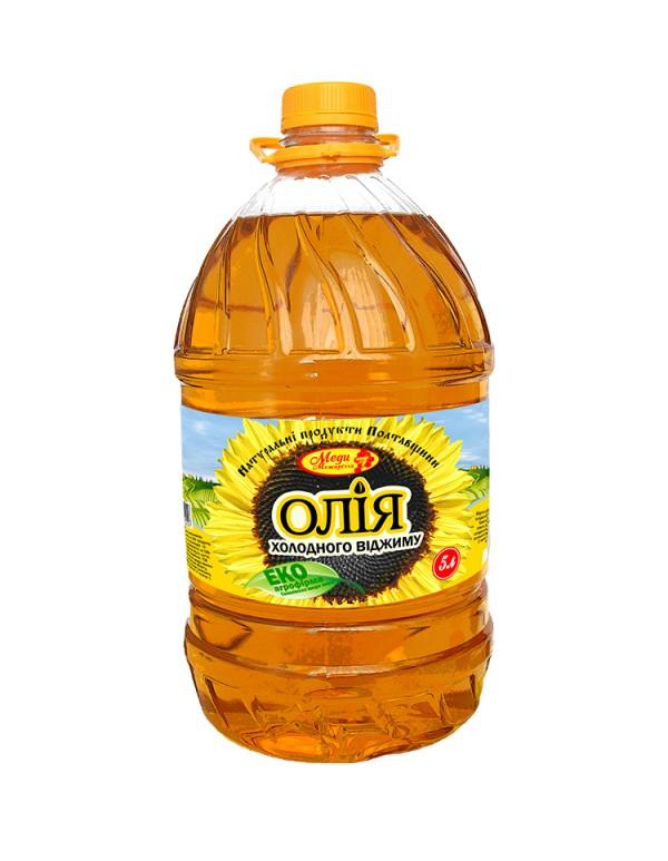 Соняшникова олія холодного віджиму 5л