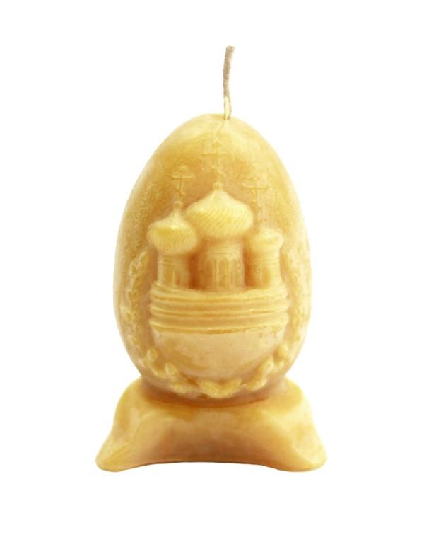 """Свічка """"Великоднє яйце"""" із натурального воску"""