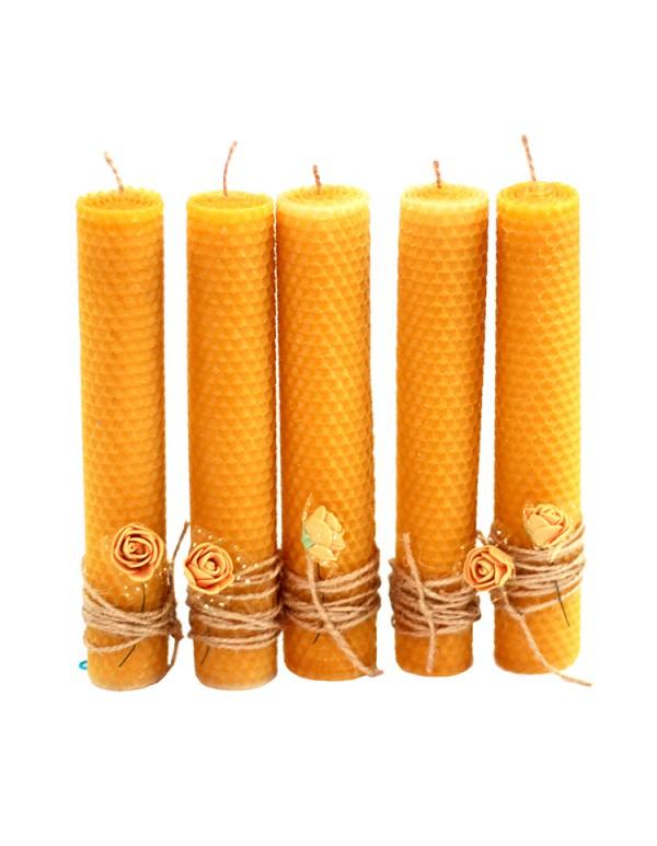 Воскові свічки з вощини на Хрещення, Весілля, Перше Причастя