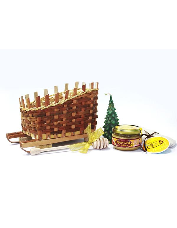 """Подарунковий набір """"Сани із медом"""""""