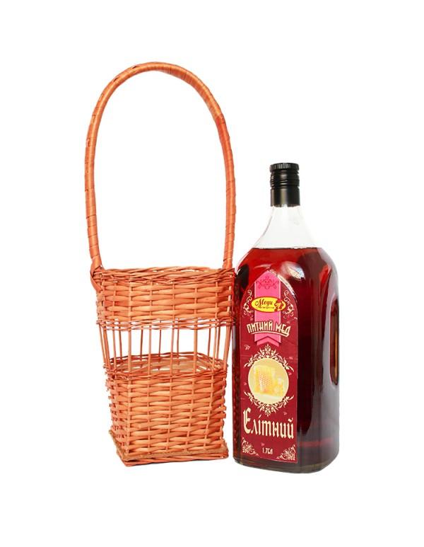 Напій медовий 1.75л у плетеному кошику