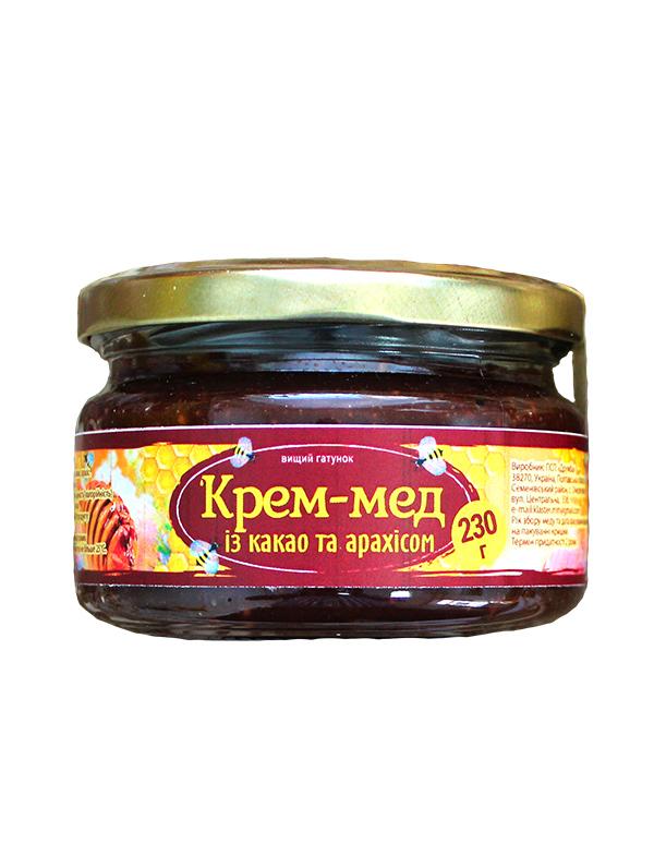 Крем-мед із какао та арахісом 230г