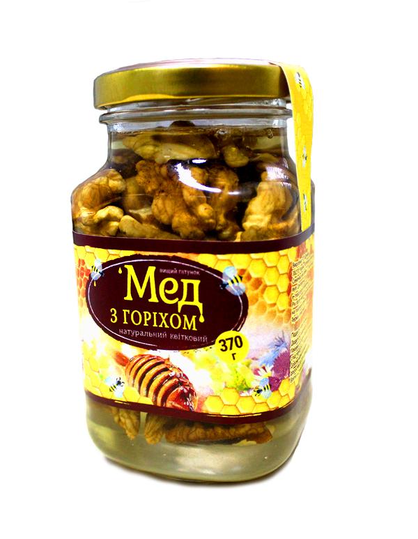 Мед із горіхами 370г