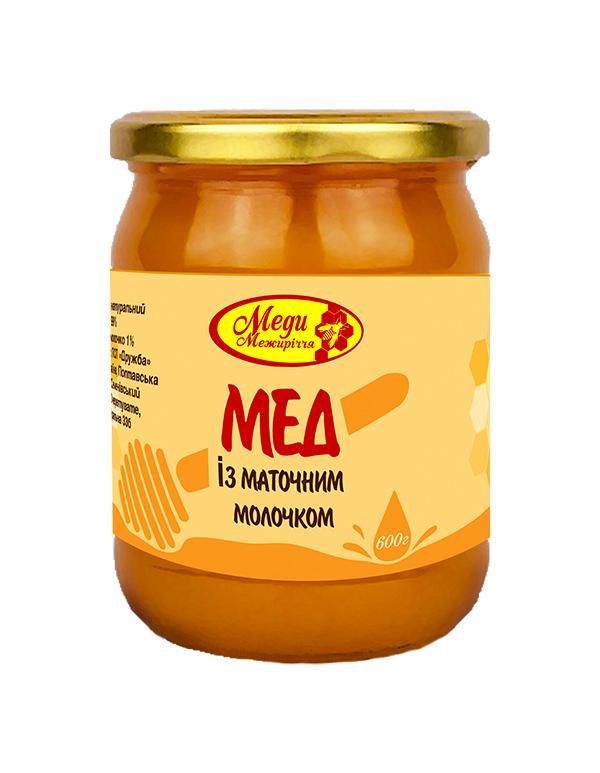 Мед різнотрав'я із маточним молочком 1% 600г